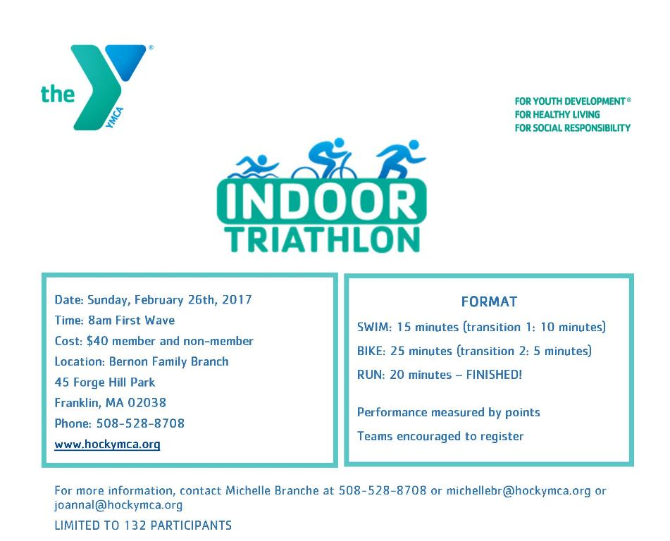 Indoor Triathlon on Sunday, February 26